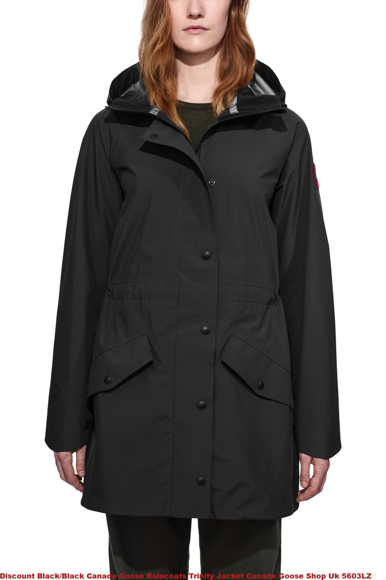 Discount Black Black Canada Goose Raincoats Trinity Jacket
