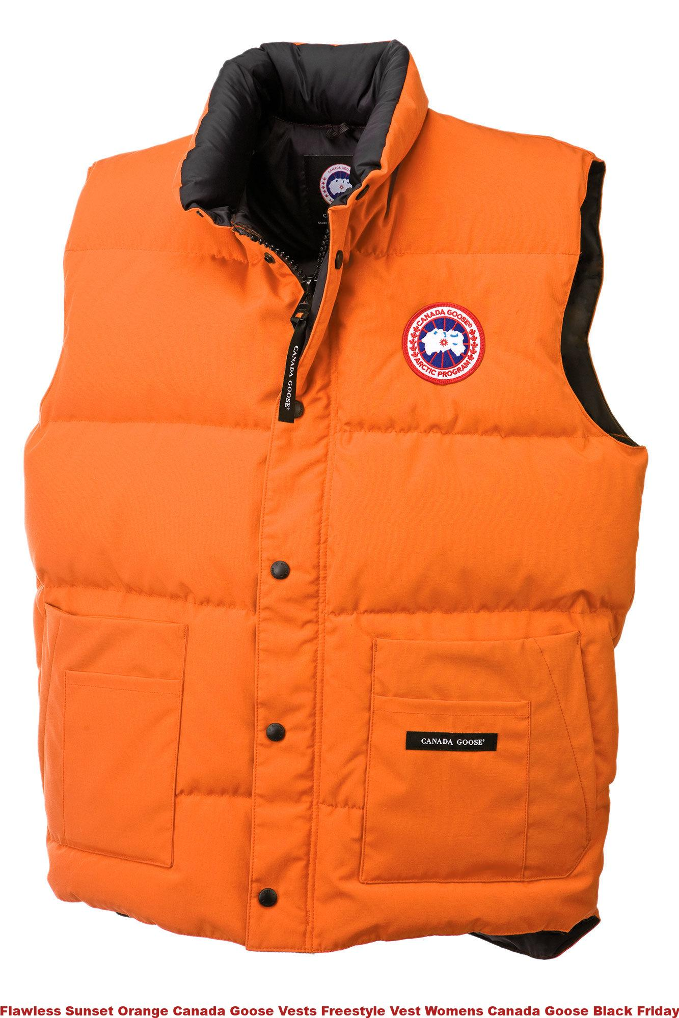 Flawless Sunset Orange Canada Goose Vests Freestyle Vest Womens Canada  Goose Black Friday 4150M d21c2dce1a